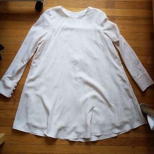 Zara Off-White Babydoll Dress